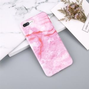 Accessories - NEW 7/8/7+/8+ Glossy Pink Marble Soft case